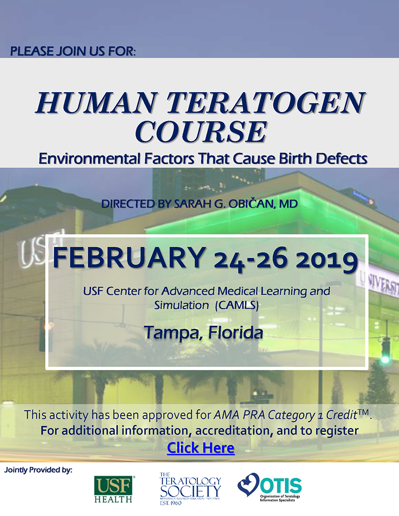 Human Teratogens Course